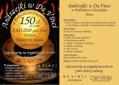 Andrzejki w Da Vinci - Andrzejki